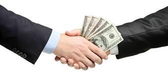 Hands changing money