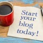 image of blogging