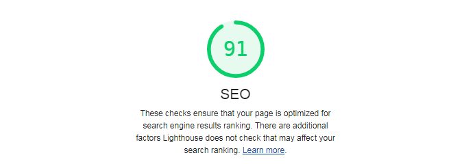 Image of seo score