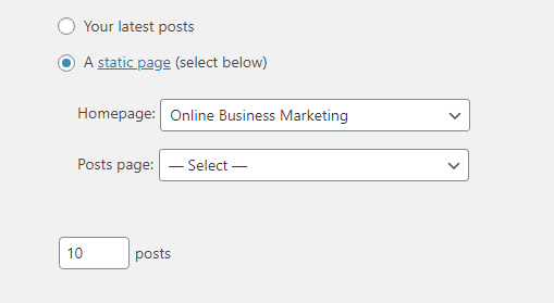 wordpress post or page