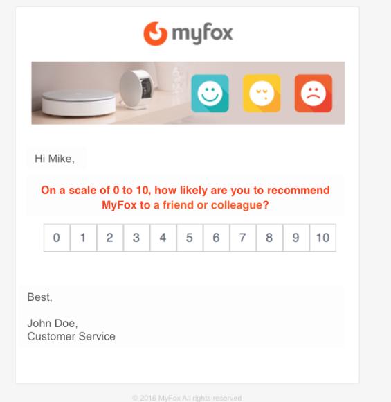 Online customer service surveys