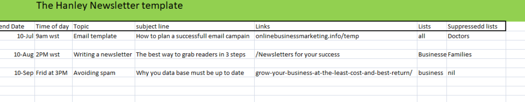 How to construct an Newsletter template