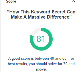 How this Keyword secret can make a massive difference