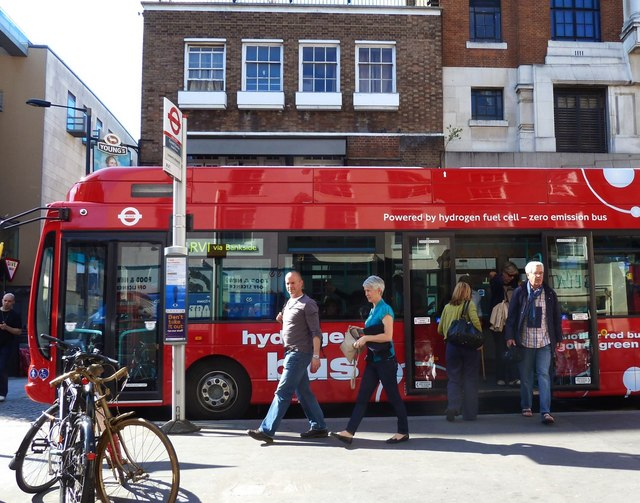 Hydrogen powered bus